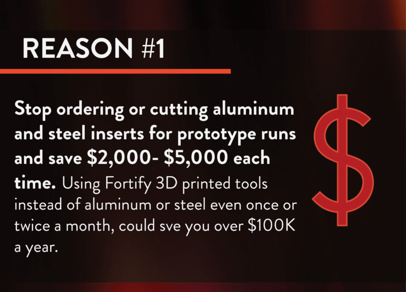 Captive molders Reason 1 for 3d printed tools