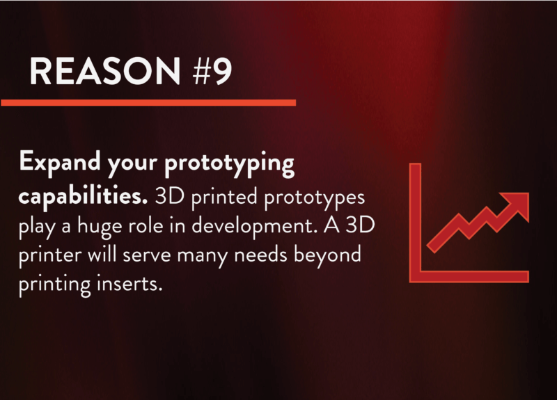 Captive molders Reason 9 for 3d printed tools