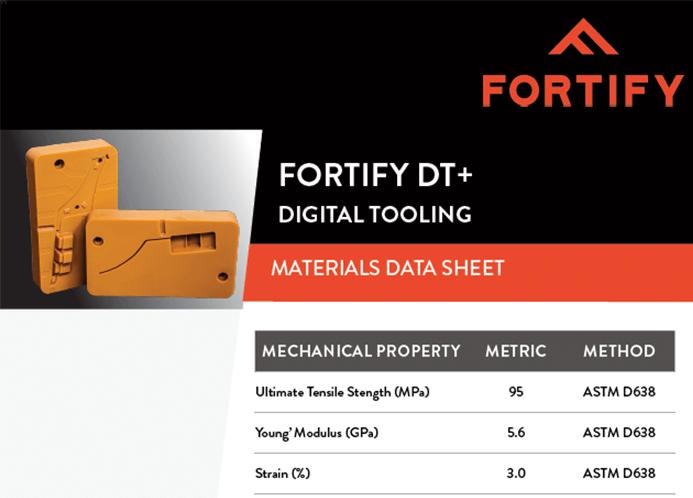 Digital Tooling spec sheet
